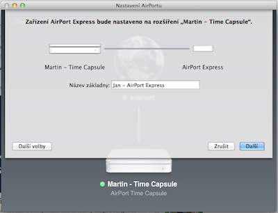 Instalace AirPort Express
